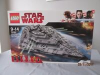 lego 75190 first order star destroyer new sealed mint
