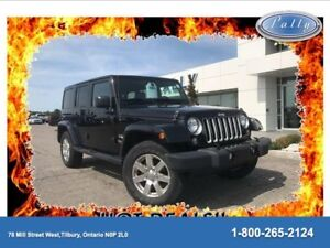 2016 Jeep Wrangler Unlimited Sahara, One Owner, Two Toofs, leath