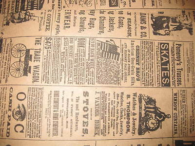 Lot 100 6x9 Newspaper Print Paper Kraft Bagsvintage Style Newsprint Favor Craft