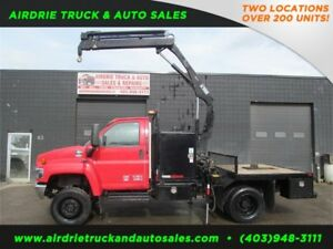 2007 GMC C5500 4x4 w/Hiab O55D-3CL Picker Truck 6 Foot Flat Bed