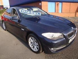 62 BMW 520D EFFICIENTDYNAMICS DIESEL £30 A YEAR ROAD TAX LEATHER