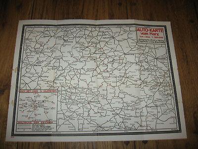 Autokarte vom Harz  1:300000 Kartographie Appelhans 1940