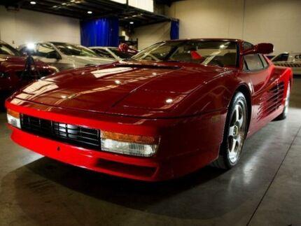 1986 Ferrari Testarossa Red Manual Coupe