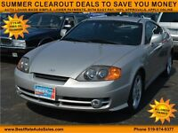 2003 Hyundai Tiburon GT V6 Coupe with SUNROOF, LEATHER