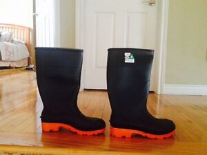 Brand New Steel Toe Rubber Boots, Size 10 $35 firm