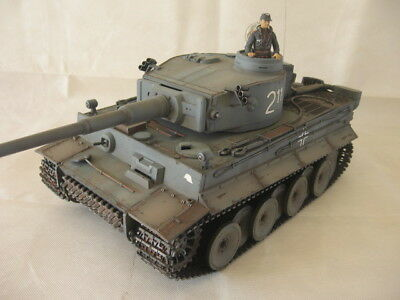 Professionally Painted Tiger I Early RC German Tank 1/16 Scale Heng Long