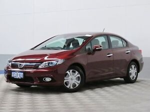 2013 Honda Civic MY13 Hybrid Burgundy Continuous Variable Sedan Morley Bayswater Area Preview
