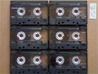 JL £15 & FREE P&P, 6x GUARANTEED TDK AR 60 PREMIUM CASSETTE TAPES 1988-1989 W/ CARDS CASES LABELS
