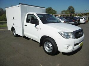 2011 Toyota Hilux GGN15R MY11 Upgrade SR White 5 Speed Manual Cab Chassis Yagoona Bankstown Area Preview