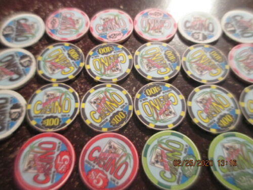 King Of Clubs Tacoma WA $1000 worth Clay Poker Table Chips Retired Closed Casino