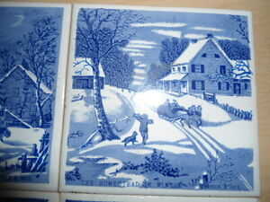 4 coasters/trivets - Currier and Ives designs Peterborough Peterborough Area image 4
