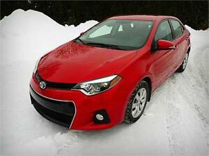 2014 Toyota Corolla S Parfait État, A/C Rouge NOUVEAU PRIX
