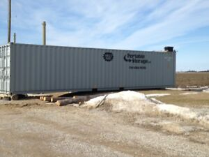 20' and 40' Portable storage shipping containers rent or buy