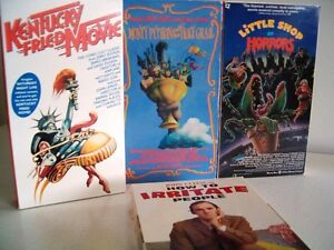 Comedy movies on VHS Little Shop Of Horrors Monty Python + more