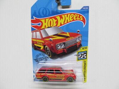 Hot Wheels 2020 NEW -  Red MOMO Datsun Bluebird Wagon (510)