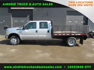 2013 Ford Super Duty F-350 DRW XL Crew Cab with 9 ft Flat Deck