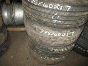 225/60 R17 MICHELIN DEFENDER USED TIRE (SET OF 4) - APPROX. 80% TREAD