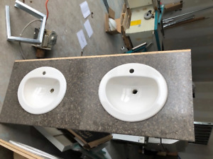 Double Vanity top with Sinks