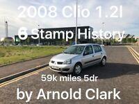 59k miles! £1099 2008 Renault Clio 1.2l* like fiesta clio yaris micra corsa c1 aygo 107 getz polo