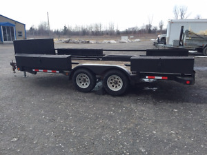 16 Foot Tandem Flat Bed trailer
