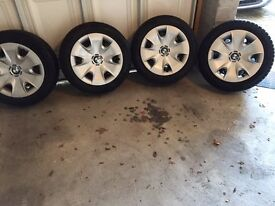 Set of 4 BMW 205/55/R16 winter tyres and wheels
