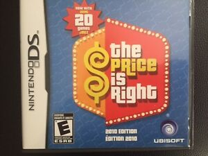 Nintendo DS THE PRICE IS RIGHT- English+French version
