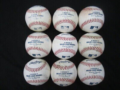 9 used Rawlings Official Major League Baseballs Manfred Jr 3/4 dozen