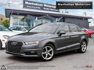 2015 AUDI A3 1.8T KOMFORT AUTO |PANO|LEATHER|PHONE|1OWNER|51KM