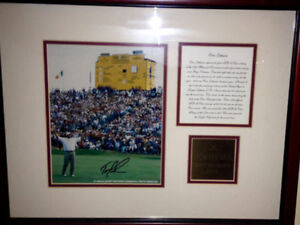Tom lehman autographed pic ,plaque with COA 1996 British open