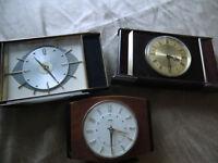 3 X Old METAMEC Clocks