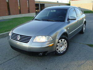 2002 VOLKS PASSAT GL SEDAN AUTO 90,000 KMS''TAX INCLUDED''