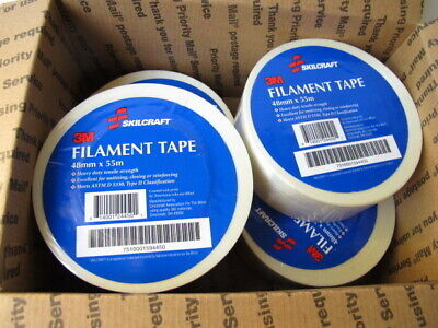 3m Filament Packing Shipping Strapping Tape 2 X 60 Yds 4 Rolls Mfg Skilcraft