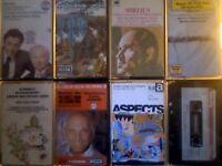 VIOLIN PIANO FLUTE CLASSICAL ORCHESTRA WORKS VARIOUS CONDUCTORS COMPOSERS PRERECORDED CASSETTE TAPES