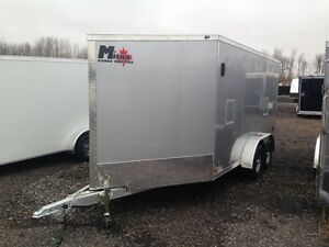7'x19' All-Aluminum Enclosed Snowmobile Trailer