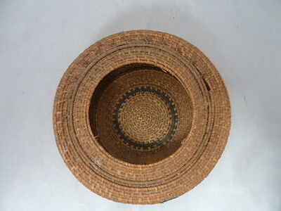Native American Weave Basket Bowl. Nice Design. Approx 2.25