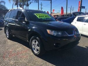 2007 Mitsubishi Outlander ZG VR Black 6 Speed Auto Sports Mode Wagon Lansvale Liverpool Area Preview