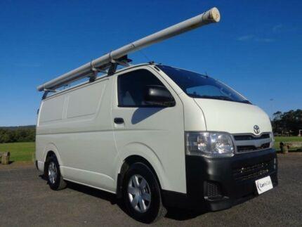 2010 Toyota Hiace KDH201R MY10 White 5 Speed Manual Van