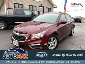 2015 Chevrolet Cruze 2LT! Sunroof! Leather! $58 Weekly Tax Inc!