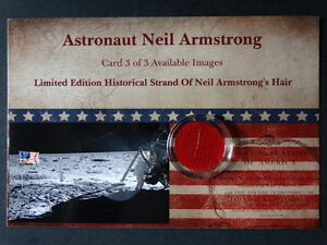 Limited Apollo 11 NASA Astronaut Neil Armstrong Hair Card Signed COA Photo 3of 3