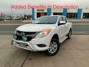2012 Mazda BT-50 UP0YF1 XTR 4x2 Hi-Rider White 6 Speed Manual Utility Fyshwick South Canberra Preview