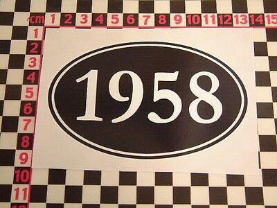 1958 Birthday Year Sticker - Fun Cheap Funny Comedy Present Gift Joke Party