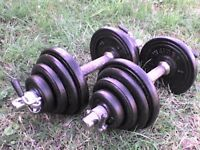 53 lb 24kg Metal Dumbbell barbell Weights and Bars - Heathrow