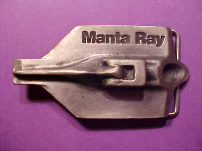 Snazzy Chic Manta Ray Foresight Products Solid Pewter Belt Buckle Mens  M469