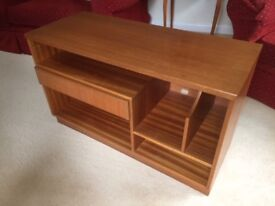 Solid Teak hi-fi unit. Drawer and standing rack. Good condition