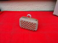 Brand new gold clutch party bag
