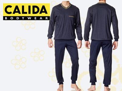 CALIDA Herren Schlafanzug Größe 46 48 Pyjama 40115 mit Bündchen 659 online