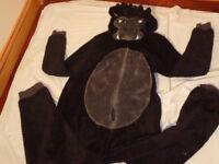 Onesee / Onesie Dressing Gown Gorilla Fleece - Age 15-16