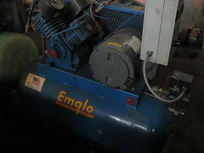 Air Compressor 3 Hp Emglo Dc3a-30 9.4 Cfm 135 Psi 30 Gallons 1995