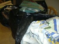 3 Bags Of off Cuts of fabric.