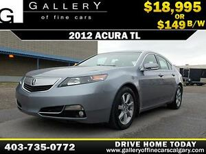 2012 Acura TL V6 $149 bi-weekly APPLY NOW DRIVE NOW